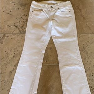 AEO NWOT White boot cut jeans